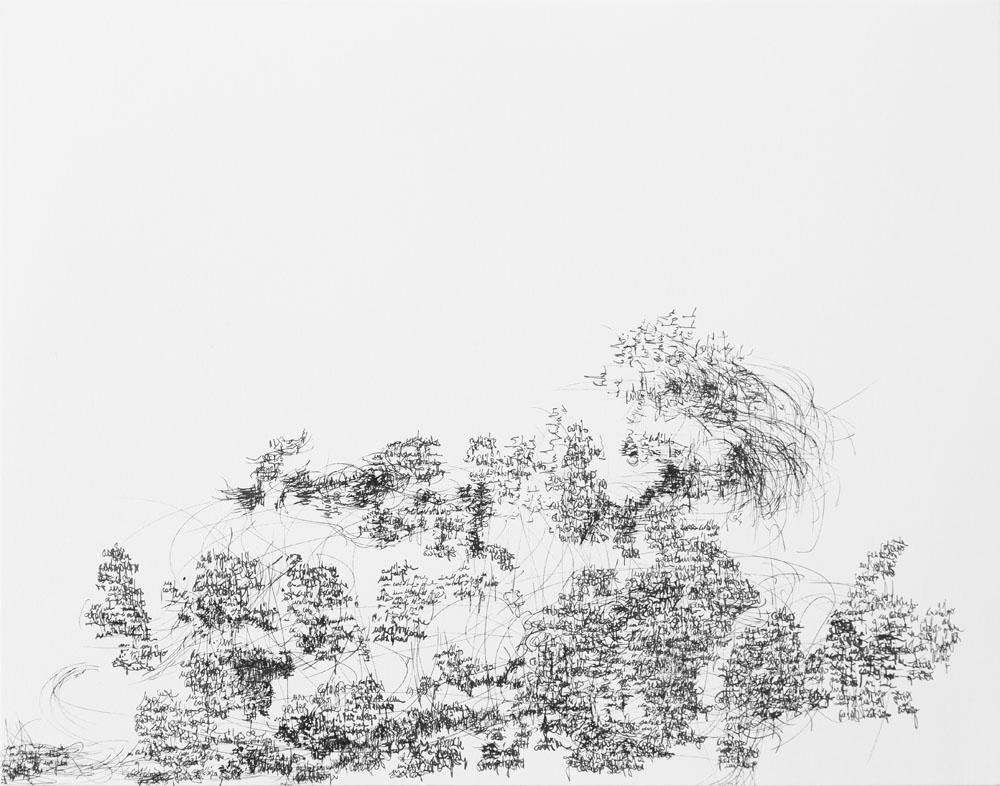 <i>Sin título</i>, fibra sobre papel, 27, 9 x 35,6 cm, 2018