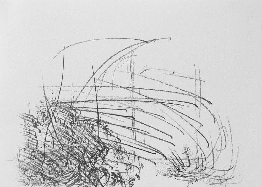 <i>Sin título</i>, lápiz sobre papel, 24,8 x 34,8 cm, 2018