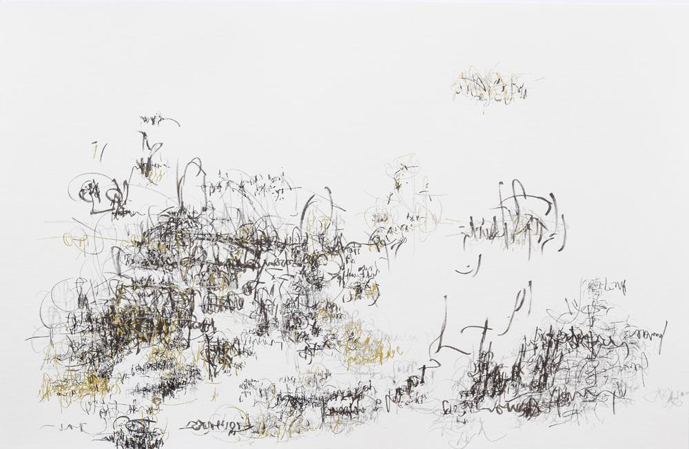 <i>Jazz</i>, fibra sobre papel, 65 x 100 cm, 2018